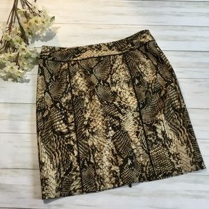 Cache snakeskin print pencil skirt